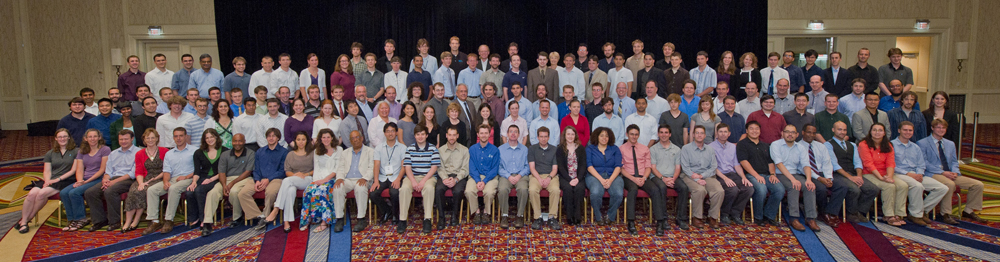 The DOE CSGF celebrated its 20th year in 2011 and commemorated the event with a photo of all program review attendees.