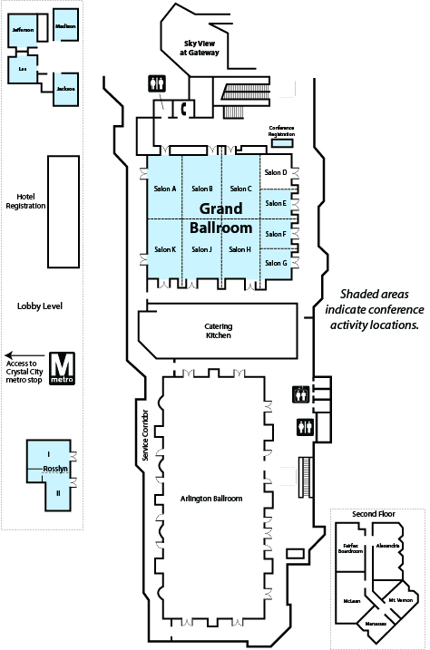 Crystal Gateway Marriott Floor Plan, 2014 DOE CSGF Annual Program Review