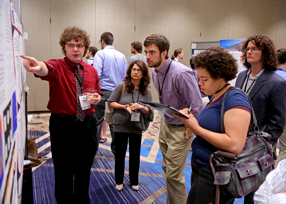 First-, second- and third-year students present their research during the annual Fellows' Poster Session.