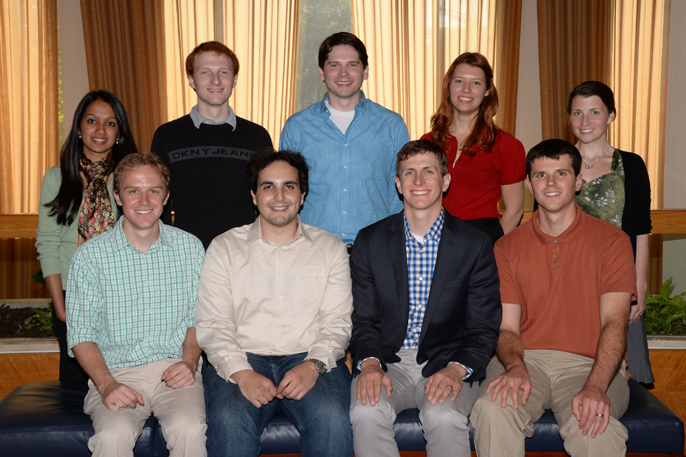The DOE CSGF welcomed a class of 10 fellows in the fall of 2013.
