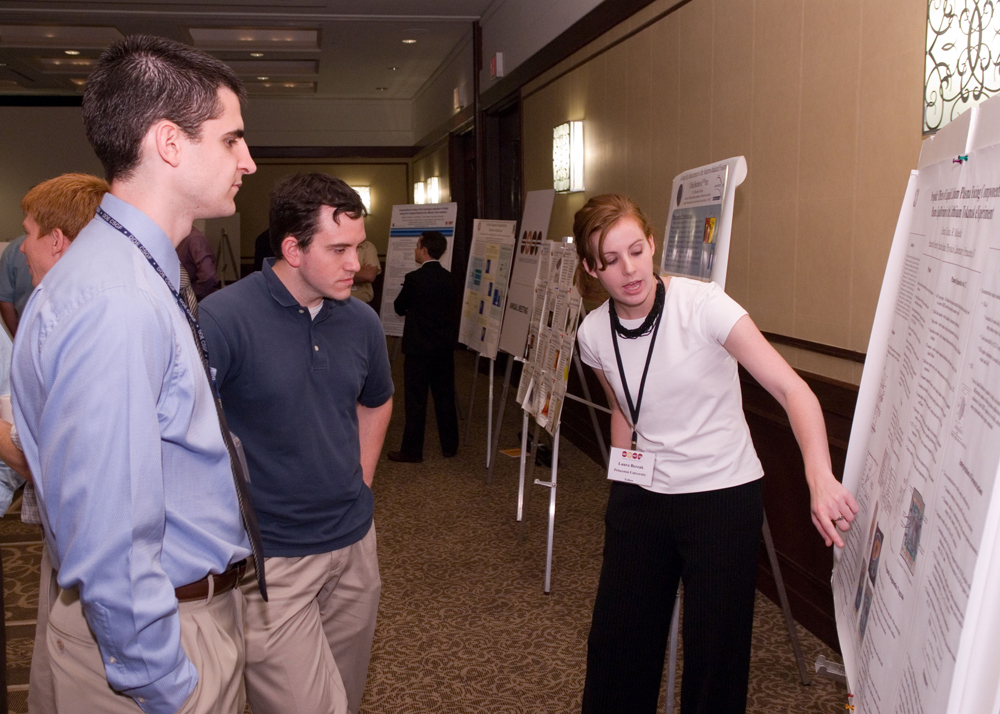Laura Berzak Hopkins presented her research at the program's first fellows' poster session.
