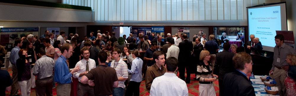 DOE NNSA SSGF and DOE CSGF students participated in a joint fellows' poster session 2009.