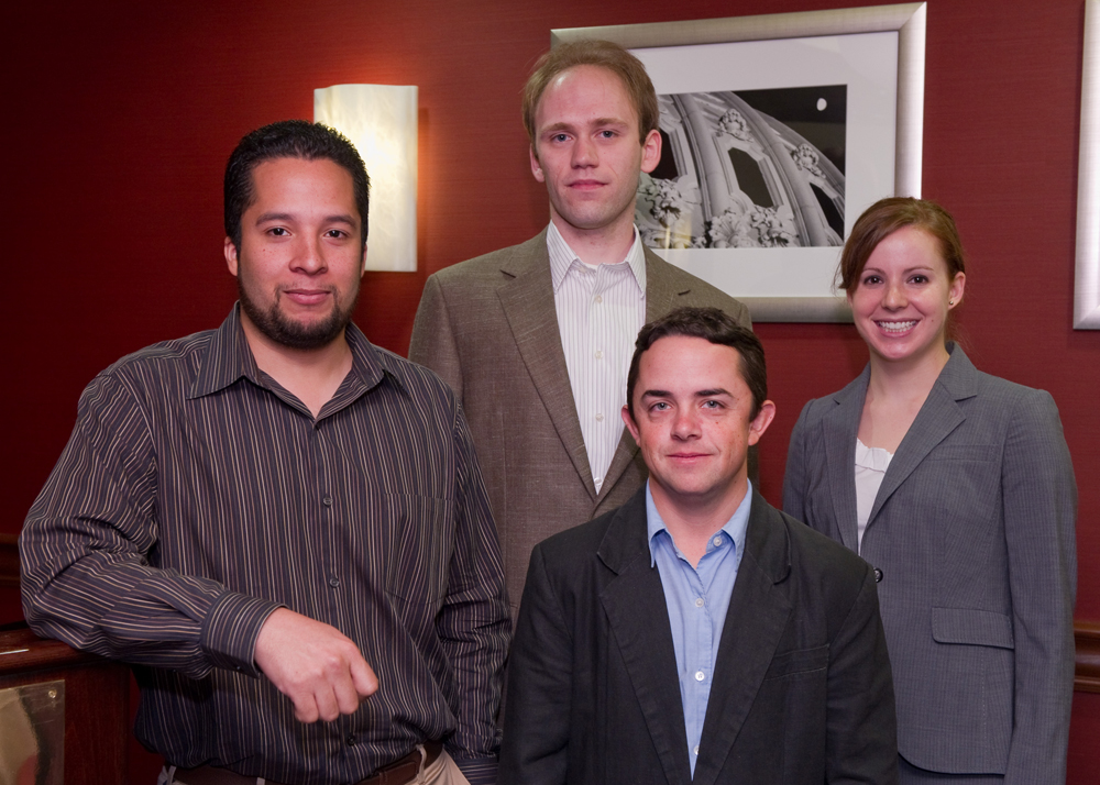 Miguel Morales, Forrest Doss, Dylan Spaulding and Laura Berzak Hopkins presented at the 2010 program review and became the first class of fellows to complete the DOE NNSA SSGF.