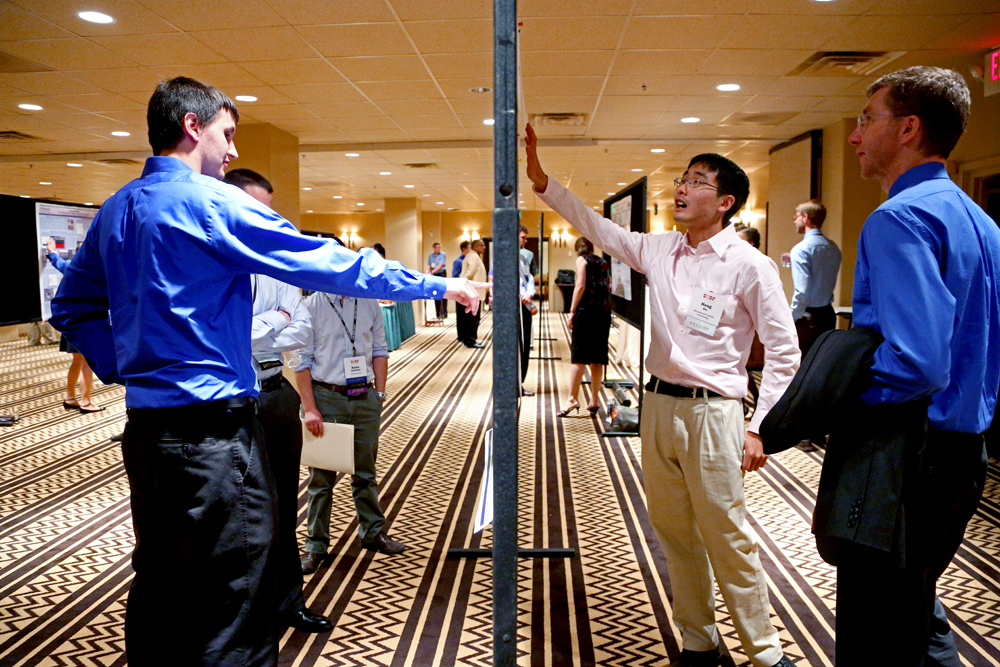 Fellows practice presenting their research to a non-expert audience during an annual poster session and contest.