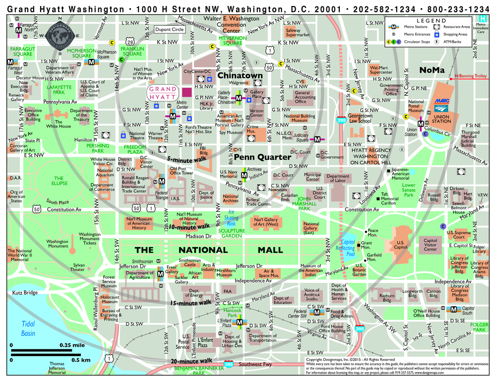 photograph about Washington Dc Tourist Map Printable known as Range Washington Map With Points of interest Visuals, - Globe