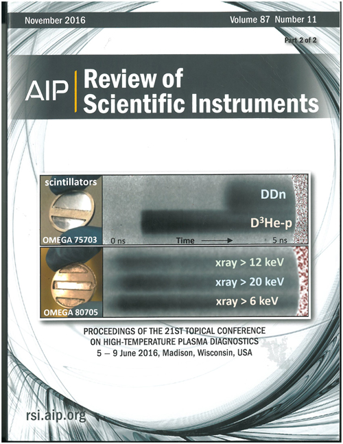 Review of Scientific Instruments cover, November 2016